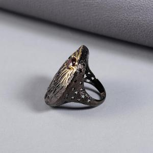 Image 3 - GEMS BALLET Natural gema de granate roja anillo 925 plata esterlina hecho a mano Sun Chaser Story anillos para las mujeres joyería fina