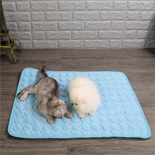 Cooling Pet Dog Bed Cat Mats Blanket Cooling Bed For Dogs Cat Pet Seat Mat Soft Sleeping Bed Cushion For Small Pets Supplies summer dog cooling mats cat blanket ice pet dog bed mats for dogs cats sofa portable tour camping yoga sleeping pet accessories