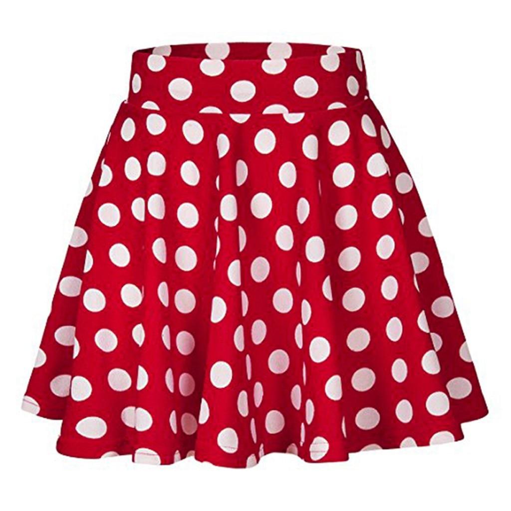 Летняя женская юбка с высокой талией, большие размеры, с цветочным принтом, в горошек, Женская винтажная Юбка миди, женская одежда Юбки      АлиЭкспресс