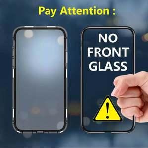 Image 2 - Новый Магнитный чехол для iphone 11 pro MAX, металлический чехол бампер на магните, XS, xr, 7, 8 PLUS, стеклянный чехол, полный корпус, оптовая продажа