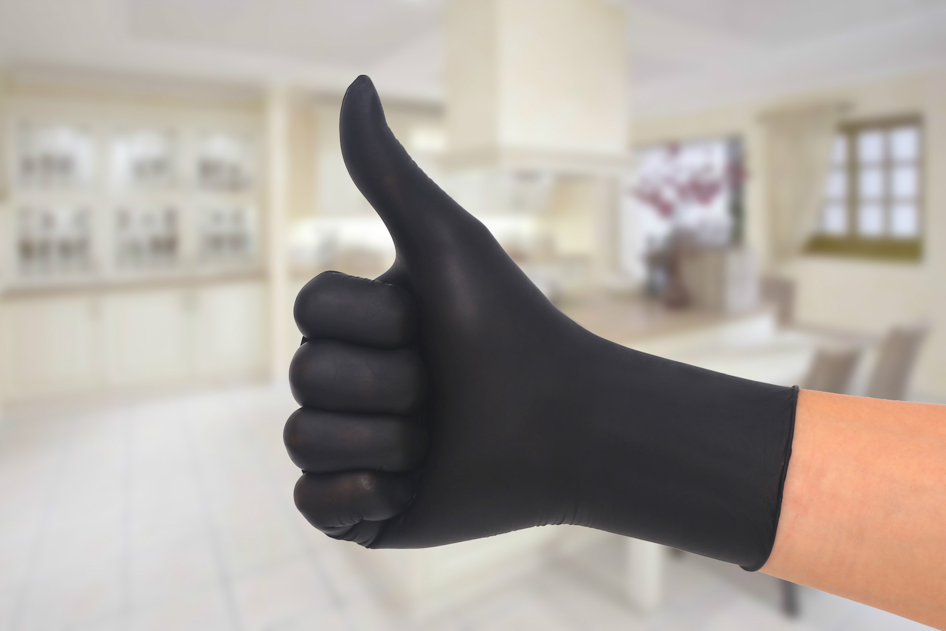 Hot 100pcs/ Pack Latex High Elasticity Black Inspection For Protective Surgical Gloves Anti Virus Influenza And Bacteria And Oil
