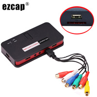 HDMI AV CVBS Component Video Capture Card 1080P PC Game Recording Box for XBox One PS4 PS3 Wii U Player TV STB Programs with Mic