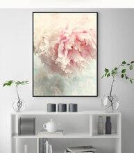 Скандинавский стиль Розовый пион настенная живопись холст постер