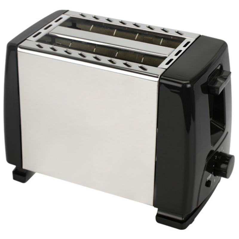 Automatic Toaster, Toaster With 2X Wide Width Slits For Up To 4X Discs, 6X Silk Steps With Hot Roll For Croissants, Bagels, Euro