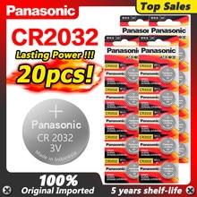 Panasonic 2020 promoção 20 pçs de alta qualidade 3 v cr2032 lítio pilhas da moeda 2032 relógio de pulso baterias dl2032 ecr2032 5004lc