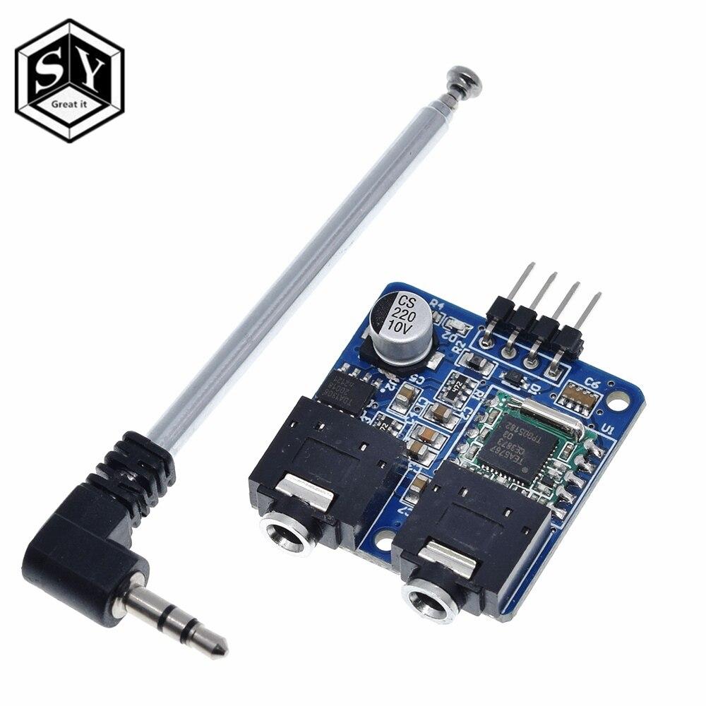 Радиомодуль TEA5767 для Arduino, 76-108 МГц, с антенной
