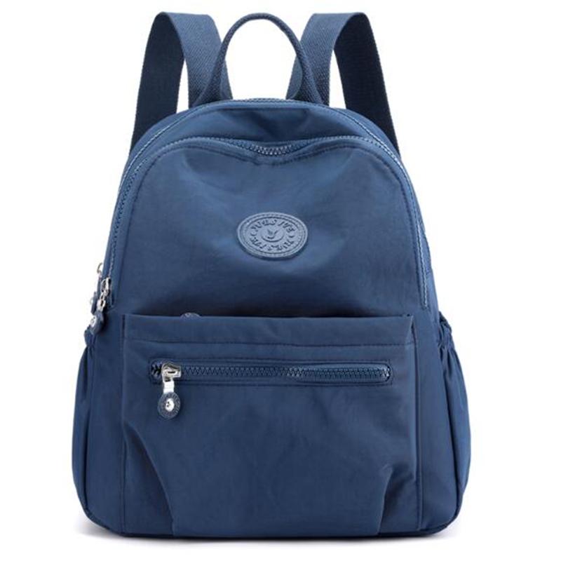 Women Waterproof Nylon Backpack Fashion Female Shoulder Bag Youth Vitality Style Multi functional Travel School Bag