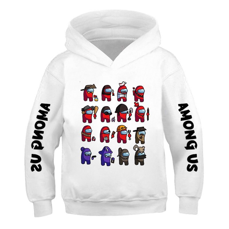 Impostor Among Us Hoodie Boys Girls Long Sleeve Sweatshirts kid Streetwear Harajuku letter printing pattern 3-14 year Pullover 5