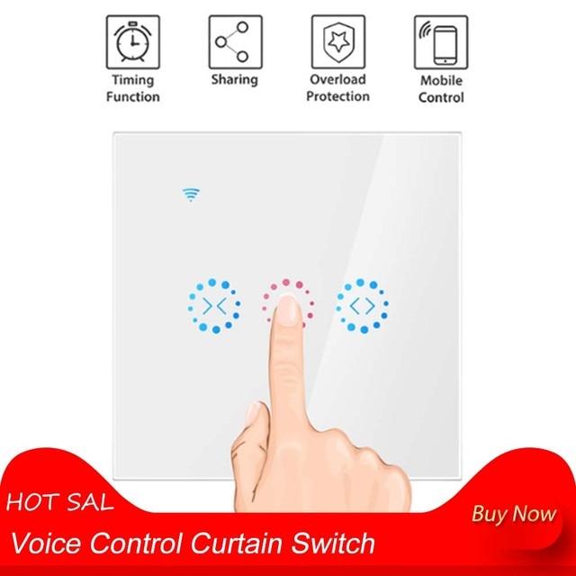 Interrupteur intelligent de rideau commande vocale