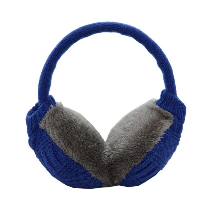 Зимние Наушники унисекс, плотные зимние теплые вязаные наушники для мужчин Wo men s Earflap Earmuffs, съемные плюшевые наушники - Цвет: L