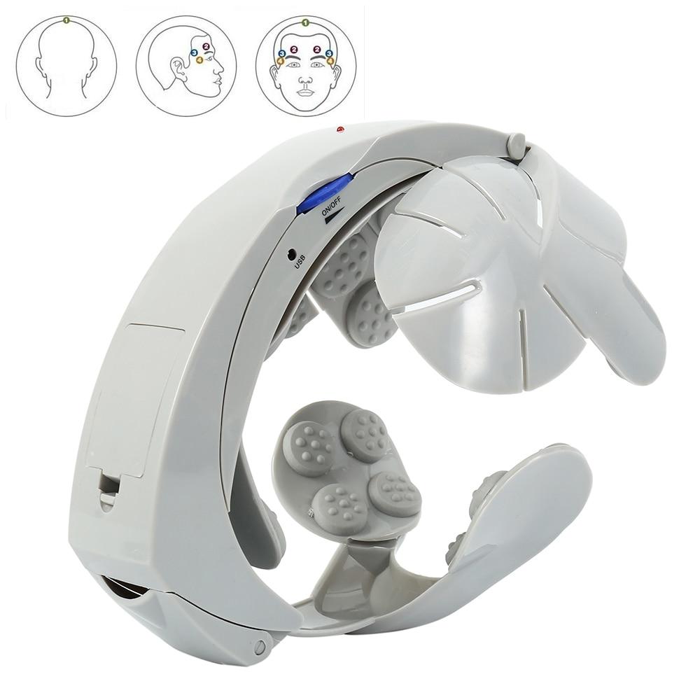 Scalp Massager Electric Head Massager Helmet Scalp Brain Relax Acupuncture Points Multi Acupoint Helmet Head Massager
