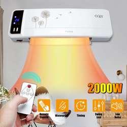 2000W Wand Montiert Luftkühler Conditioner Elektrische Heizung Heizung Zimmer Bad Wasserdichte Fernbedienung Klimaanlage Fan
