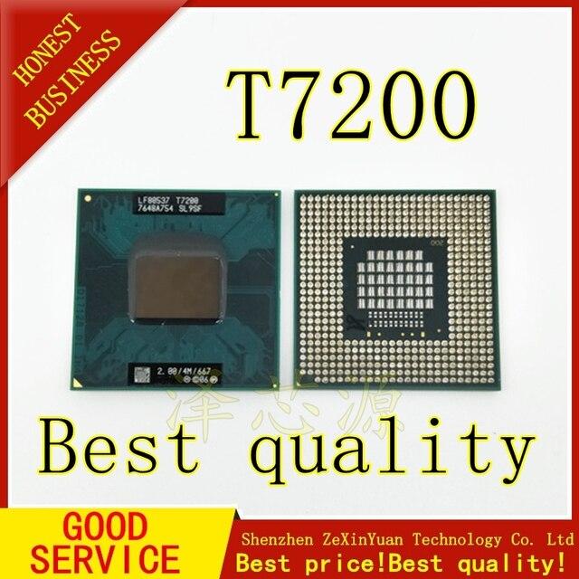2PCS T7200 7200 SL9SF CPU 4M Socket 479 (Cache/2.0GHz/667/Dual Core) Laptop processor