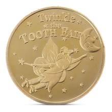 Moeda não-moeda dente fada ouro físico moedas comemorativas criativo arte collectible presente decoração do agregado familiar