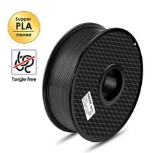 TIANSE Neat Winding PLA Filament 1.75mm 1kg For 3D Printer No tangle Print Smoothly Degradable Plastic Material for Printing