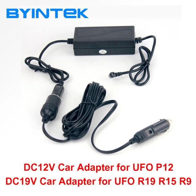 BYINTEK adaptador de corriente Auto coche vehículo, DC12V/19 voltaje, 19 V para UFO R15 R19 U50 y 12V para UFO P12 P20 U30