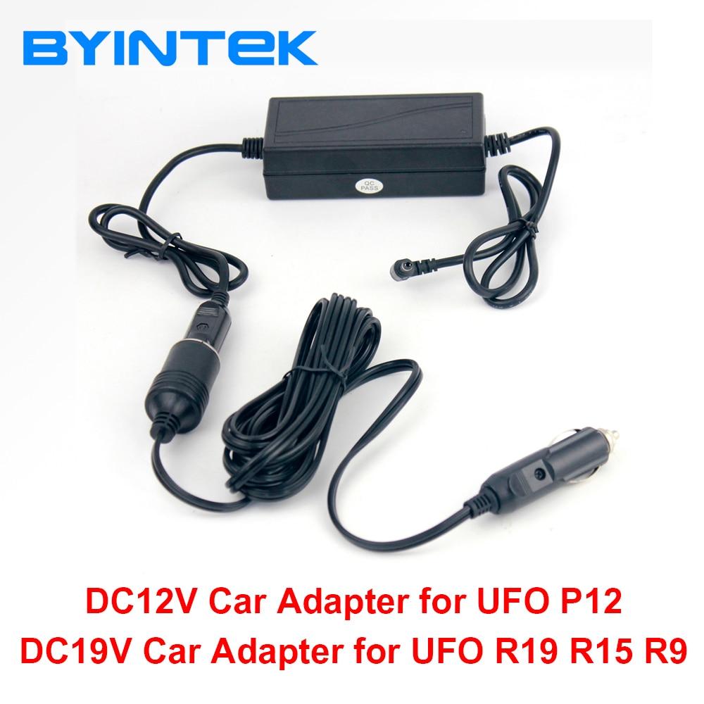 DC12V 19V Vehicle Auto Car Power Adapter for 19V BYINTEK Projector UFO R15 R9 and 12V for UFO P12