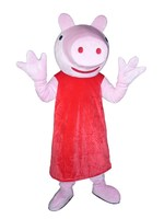 Hot Sale Classic Version Long dress baby Pig Mascot Costume Adult Halloween Birthday party cartoon Apparel Cosplay Costumes