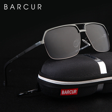 BARCUR Aluminum Polarized Mens Sunglasses Mirror Sun Glasses Square Goggle Eyewear Accessories For Men Or Women Female