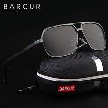 BARCUR gafas de sol polarizadas de aluminio para hombre y mujer, lentes de sol cuadradas con espejo, accesorios para hombre o mujer