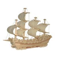 3D деревянная игрушка-головоломка DIY лазерная резка корабль карусель церковная башня сборка украшение стола подарок