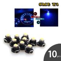 10 Uds T3 luz LED de tablero SMD 3528 bombilla Led bombilla indicadora de advertencia de coche instrumento indicador de luz lámpara de luz de fondo