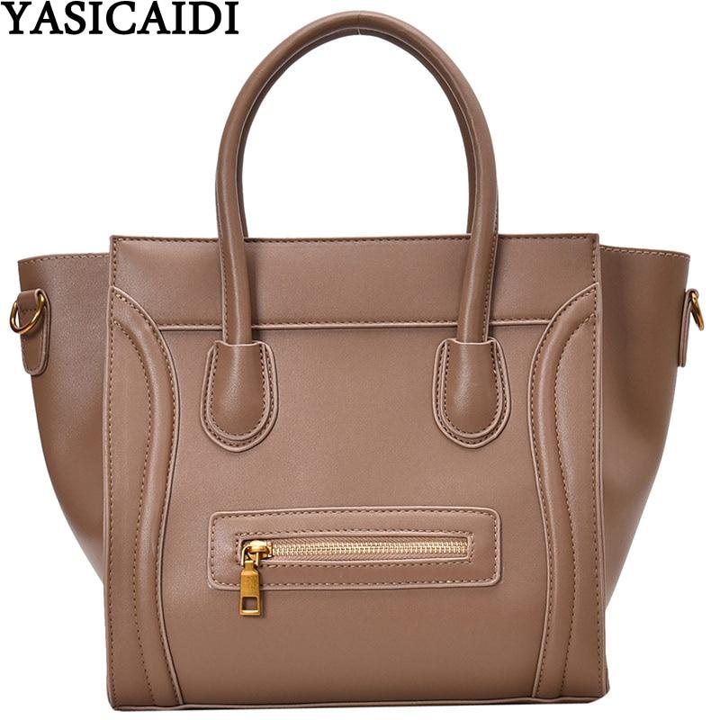 YASICAIDI Brand Big Tote Ladies Hand Bags Rivet Decor Leather Female Handbag Large Capacity Crossbody Bags For Women Sac A Main