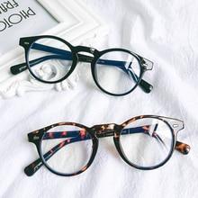 Computer-Glasses-Frame Eyeglass Optical-Spectacle Anti-Blue-Light Eyewear Round Transparent