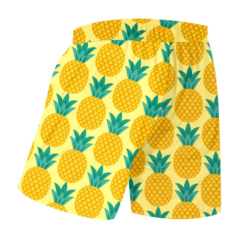 UJWI letnie męskie spodenki plażowe nowe luźne dorywczo 3D drukowane żółty ananas Streetwear duże rozmiary odzieży dla mężczyzn spodenki wiosenne