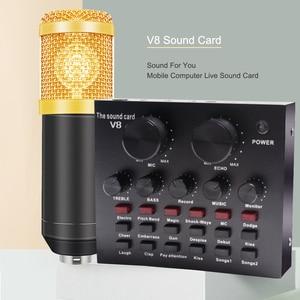 Image 5 - 8Pcs/set Bm 800 Microphone Kit For Computer 7 Colors With V8 Sound Card Professionnel Microfone Studio Microfono Condensador
