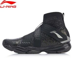 Image 1 - Li ning zapatos de bádminton profesionales para hombre, calzado deportivo ligero con forro de espuma, en la nube, AYAP015 JAS19, 4,0