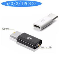 5 sztuk Micro USB na USB C Adapter Adapter telefonu komórkowego Microusb złącze dla Huawei Xiaomi Samsung Galaxy A7 Adapter USB TypeC tanie tanio micro usb to type c adapter standard 5 3 2 1pcs micro usb to type c adapter