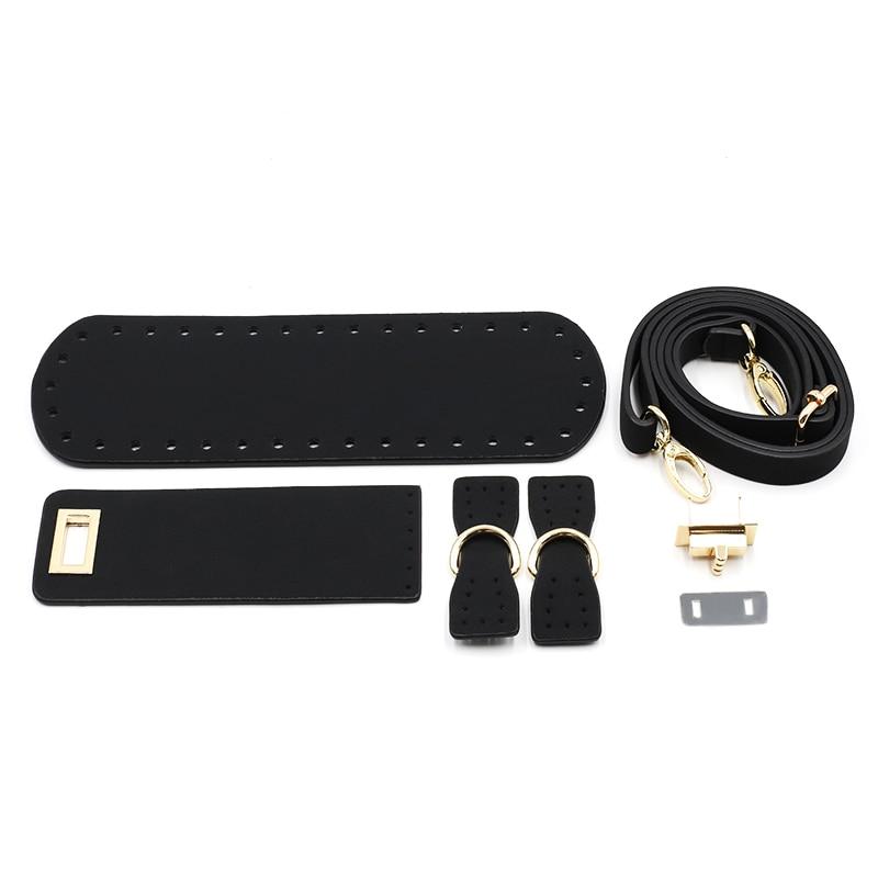 Kzfashion Diy Bags Accessories Parts With Bag Bottom Bag Cover Shoulder Strap 5pcs Set Leather Replacement Handbag Accessories