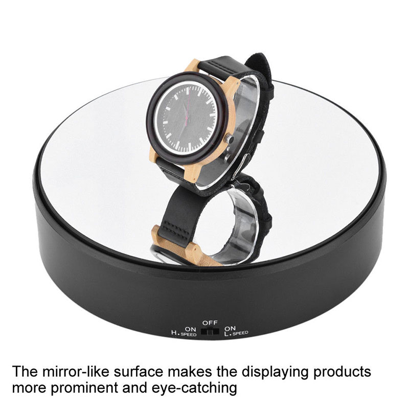Rotary Jewlery Display Stand Mirror Glass 360 Swivel Watch Holder Turntable for Necklace Bracelet HYD88|  - title=
