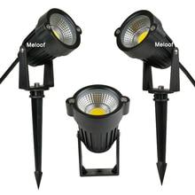نمط جديد COB حديقة مصباح حديقة ضوء 220 فولت 110 فولت 12 فولت في الهواء الطلق LED سبايك ضوء 3 واط 5 واط مسار المشهد مقاوم للماء بقعة لمبات