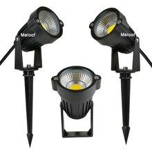 새로운 스타일 COB 정원 잔디 램프 빛 220V 110V 12V 야외 LED 스파이크 빛 3W 5W 경로 풍경 방수 자리 전구