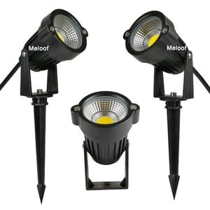 Image 1 - 새로운 스타일 COB 정원 잔디 램프 빛 220V 110V 12V 야외 LED 스파이크 빛 3W 5W 경로 풍경 방수 자리 전구