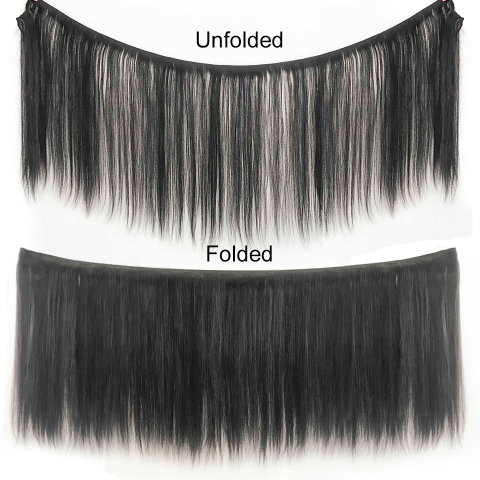 Image 2 - Ali Grace Hair Brazilian Straight Hair Bundles With Closure 4*4 Middle Free Part 2 Option 100% Remy Human Hair With Closure-in 3/4 Bundles with Closure from Hair Extensions & Wigs