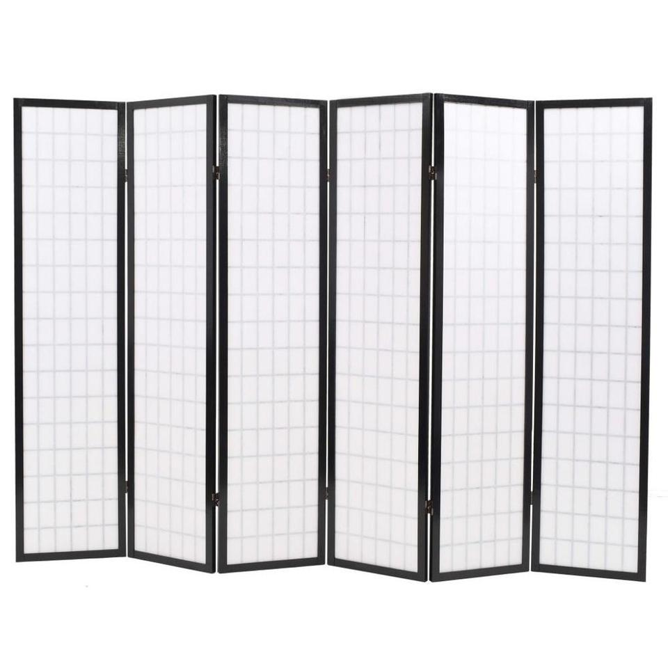 Usa Warehouse Folding 6 Panel Room Divider Japanese Style 94 5 X66 9 Black Screens Room Dividers Aliexpress