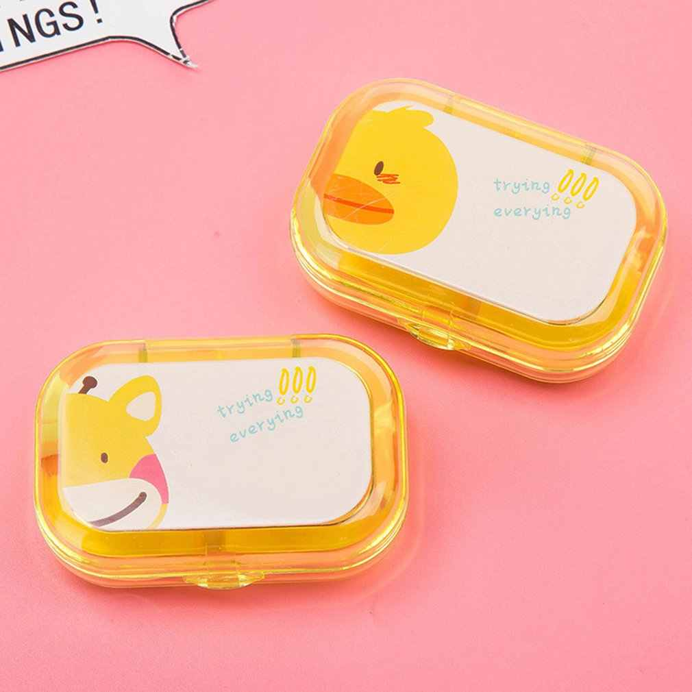 1Pcs Portable Contact Lens Case Cartoon Durable Plastic Travel Holder Care Kit Holder Contact Lens Container dropshipping