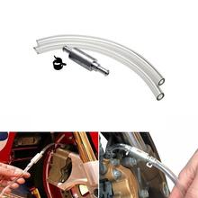 Auto samochód motocykl POMPA OLEJOWA oleju krwawienie w celu uzyskania Adapter wąż hydrauliczny samochodu upustu hamulca sprzęgła zestaw narzędzi do układy wydechowe tanie tanio Onever 0 02inch 45cm Bleeding Hose Aluminum + Rubber Oil Bleeding Replacement Adapter Hose Kit 0 03kg Honda 0 8cm Anti-corrosion