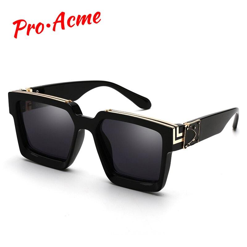 Pro Acme 2020 Luxury Brand Designer Square Sunglasses Men Women Fashion Thick Frame Glasses Mens UV400 Male Celebrity PD1399