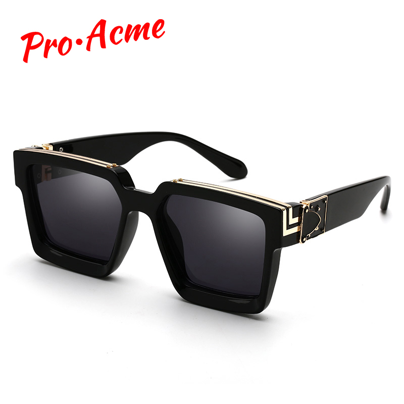 Pro Acme <font><b>2020</b></font> Luxury Brand Designer Square Sunglasses Men Women Fashion Thick Frame Glasses Mens UV400 Male Celebrity PD1399 image