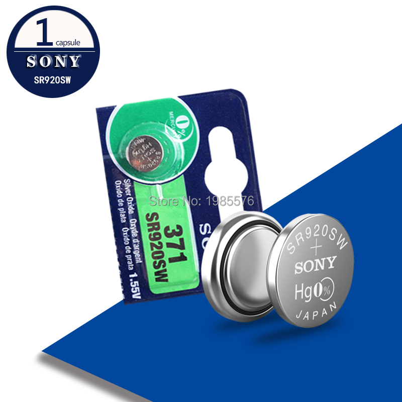 1pc For Sony 100 Original 371 SR920SW 920 LR920 AG6 LR920 LR69 171 1.55V Silver Oxide Watch Battery Watch Battery MADE IN JAPAN