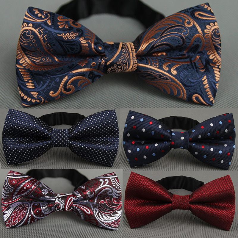 Men's Bow Tie Fashionable Formal Business For Men Wedding Gift Tie Bowknot Dot Necktie Party Accessories Bowtie
