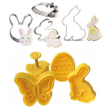 Biscuit Decorating-Tool Pastry-Plunger Cookie-Cutter Cake Easter Fondant Bunny-Pattern