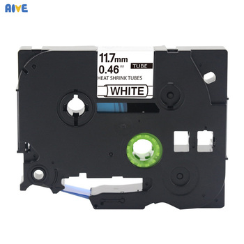 Aive HSE-231compatible brother HSe heat shrink Tube tape cartridge Label Printer black on white Hse-211 HSe-621 Hse-241 Hse-631