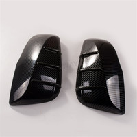 2Pcs Carbon Fiber ABS Side Door Wing Rear View Mirror Cap Cover Trim Fit For Toyota RAV 4 RAV4 2019 2020 Car Accessorie