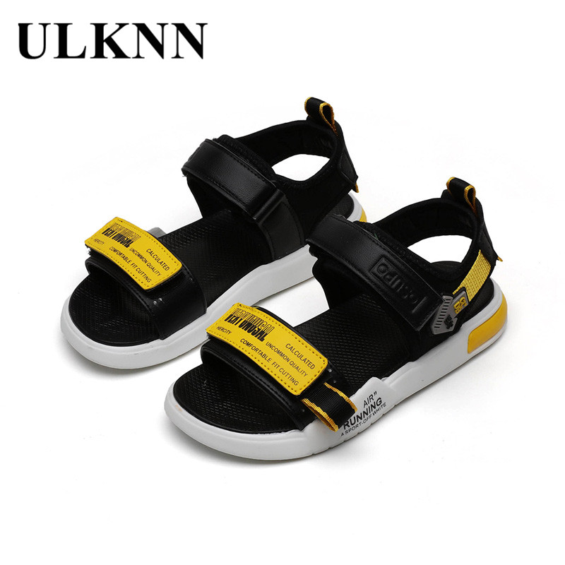 ULKNN Girl'S Sandals 2020 Summer Kid's  Fashion BOY'S Casual Sandals Versatile CHILDREN'S Beach Shoes Size 21-36