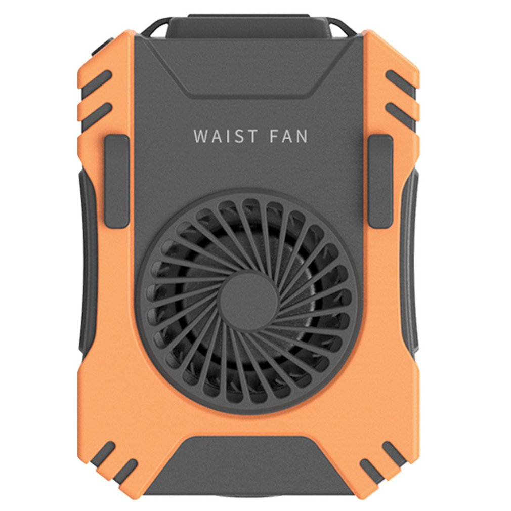Newest USB Portable Personal Hanging waist Fan With Recharge Battery Ultra quiet Wearable Electric Fan handheld Air Conditioner